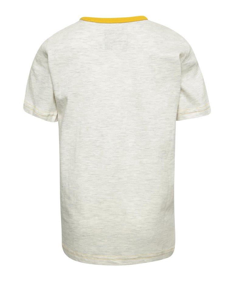 Krémové klučičí triko s potiskem bobra 5.10.15.