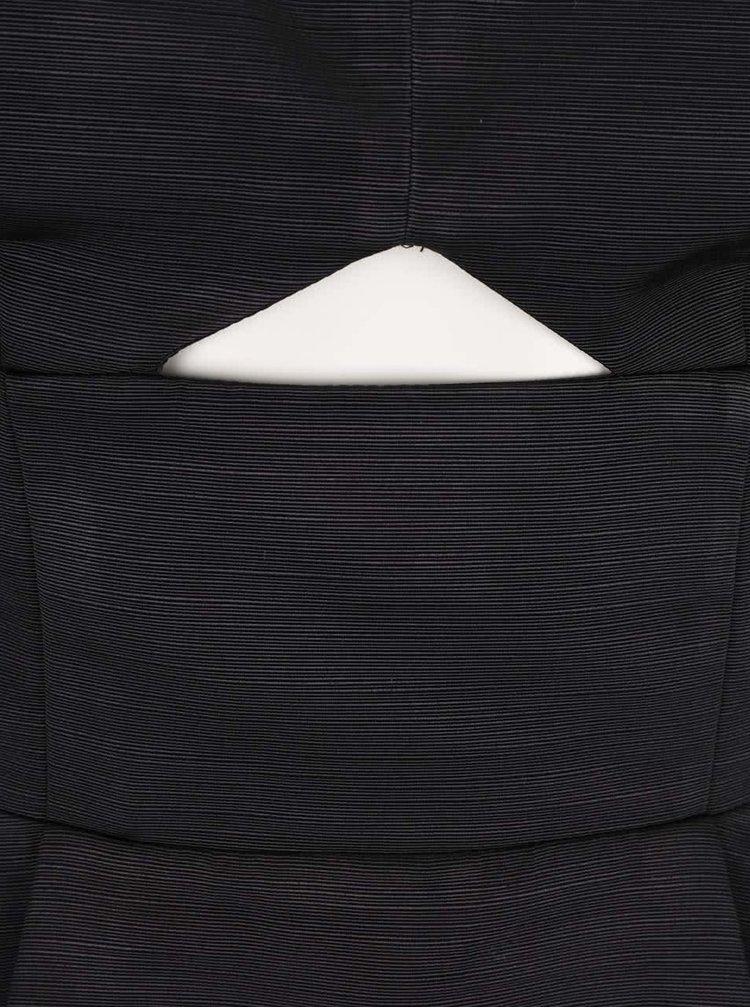 Černý top bez ramínek s průstřihem Miss Selfridge