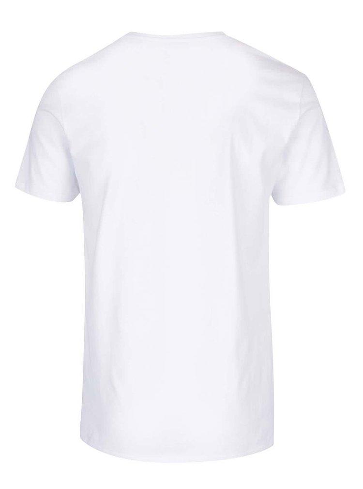 Bílé triko s potiskem ONLY & SONS Celeb