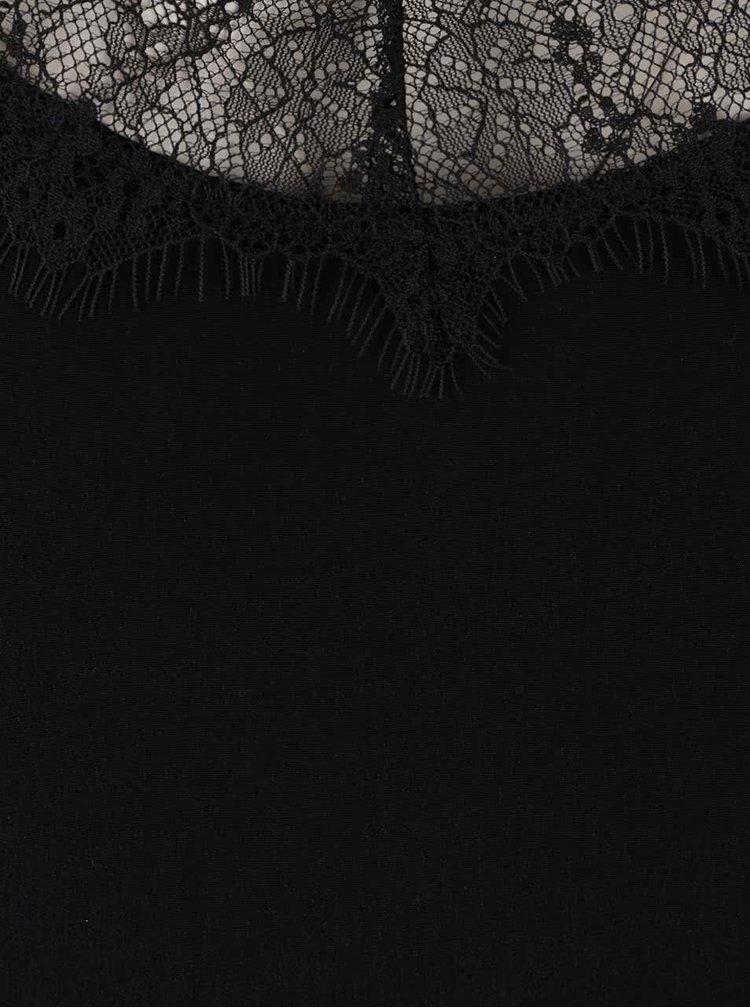 Rochie neagră cu detalii din dantelă ONLY Maria