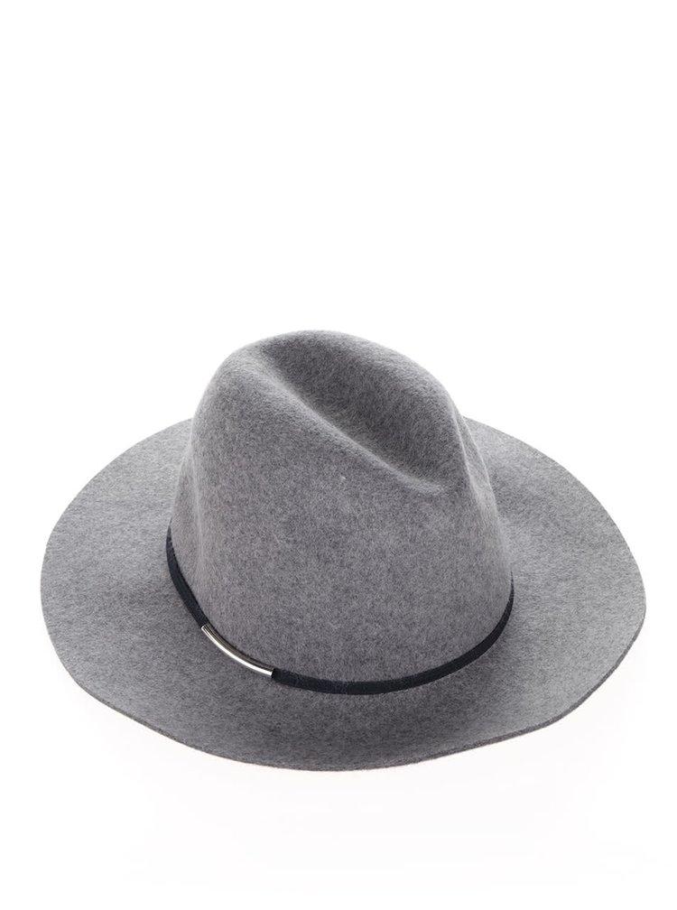 Šedý vlněný klobouk Miss Selfridge