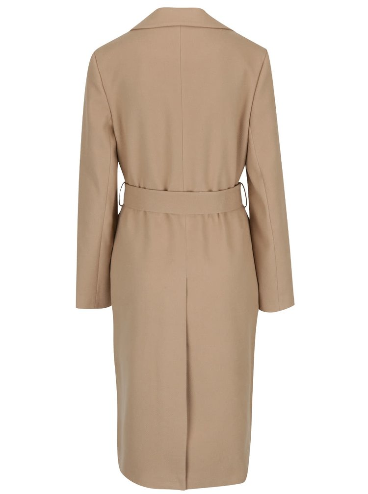 Palton maro deschis cu cordon Miss Selfridge