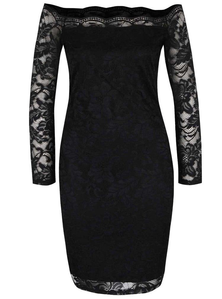 Černé krajkové šaty ONLY Moskat