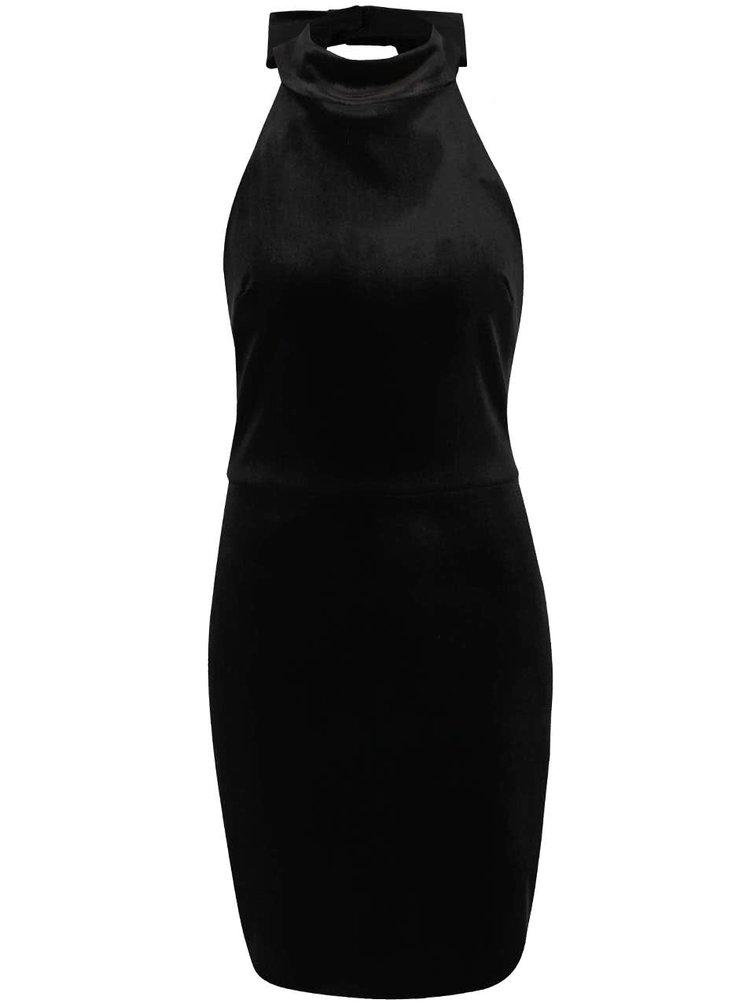 Černé sametové šaty Miss Selfridge