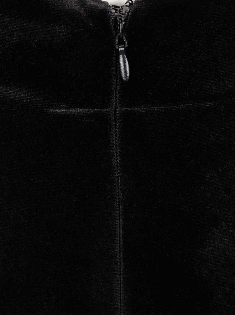 Rochie neagra Miss Selfridge din catifea
