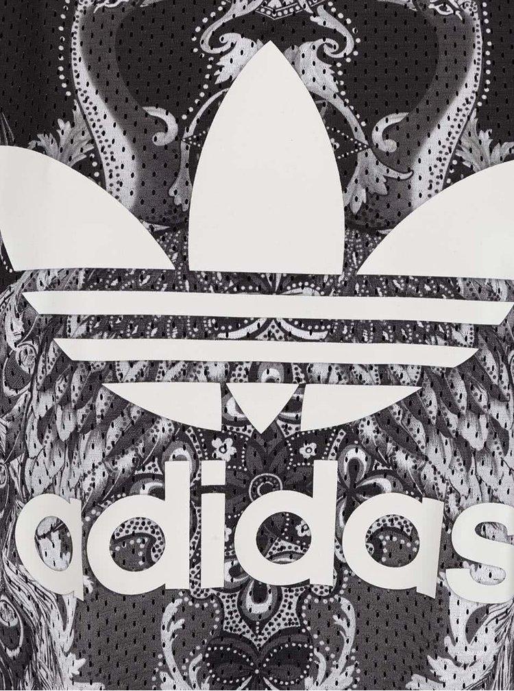 Bílo-šedé minišaty adidas Originals