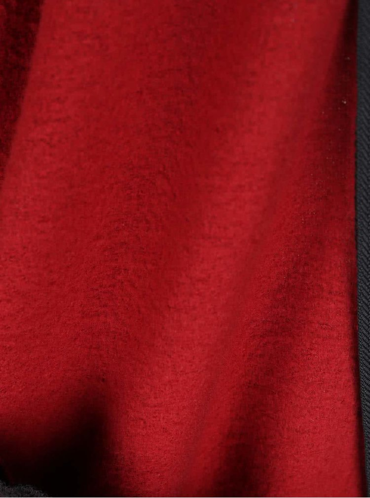 Černo-červený dámský kostkovaný bomber Vans Oatman