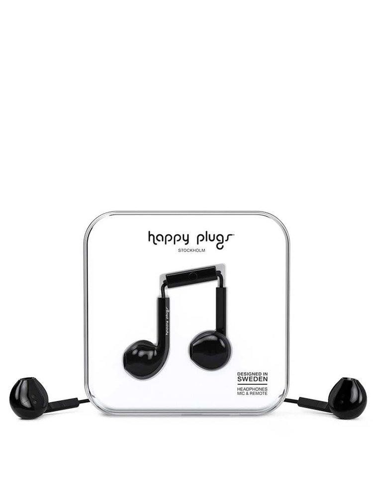 Černá Earbud plus sluchátka Happy Plugs