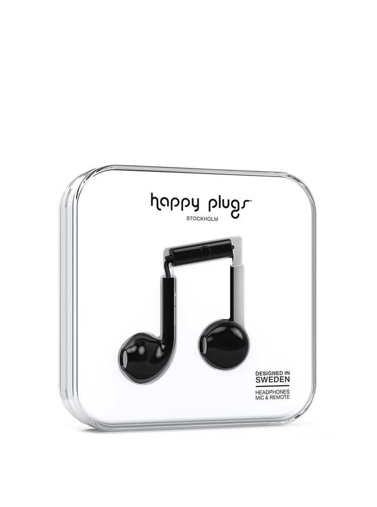 Căști negre Happy Plugs