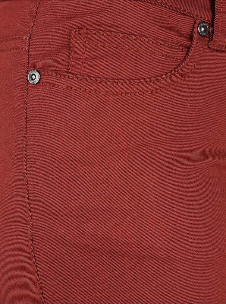 Pantaloni slim fit rosu caramiziu Noisy May Eve