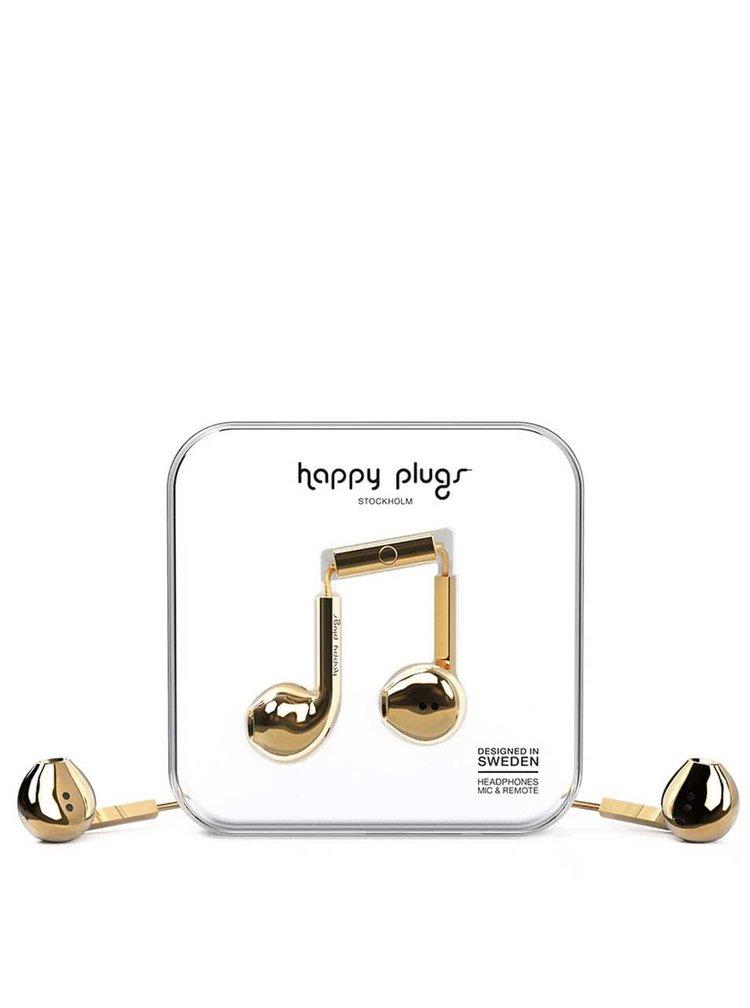 Earbud plus slúchadlá v zlatej farbe Happy Plugs