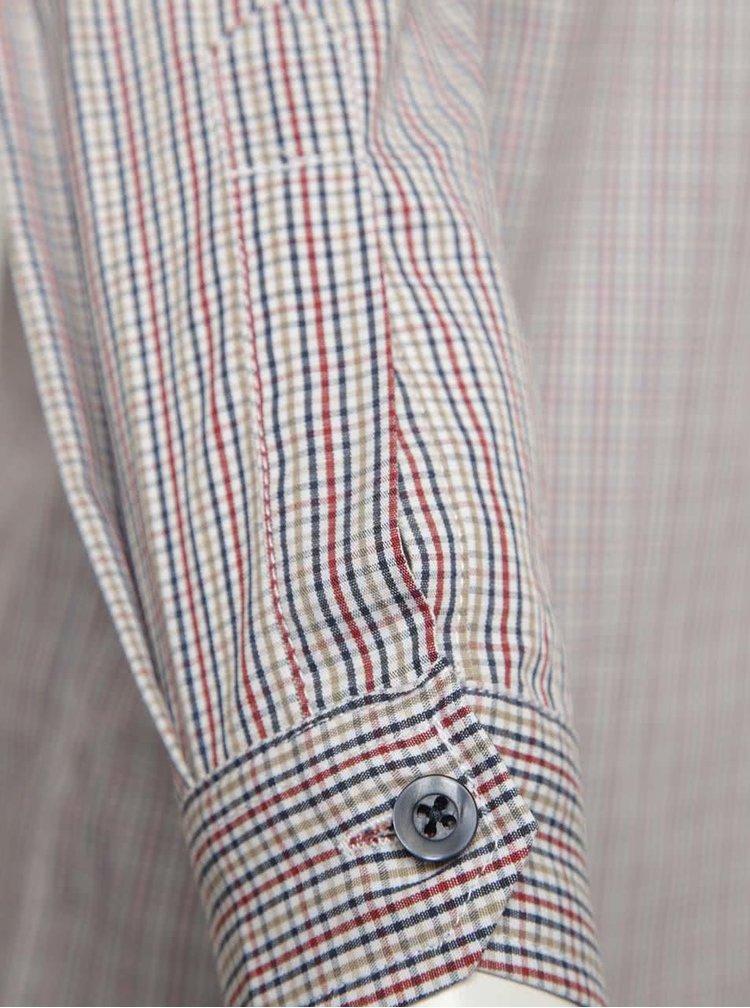 Bílo-červená klučičí vzorovaná košile name it Pook