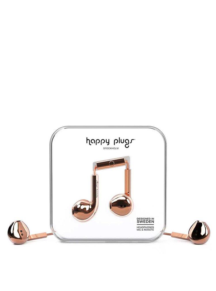 Căști earbud auriu rose Happy Plugs