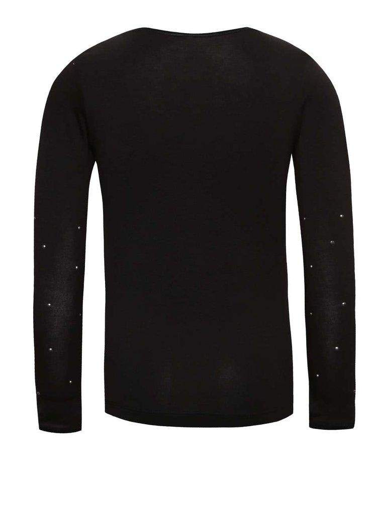 Čierne dievčenské tričko s dlhým rukávom name it Pelissimo
