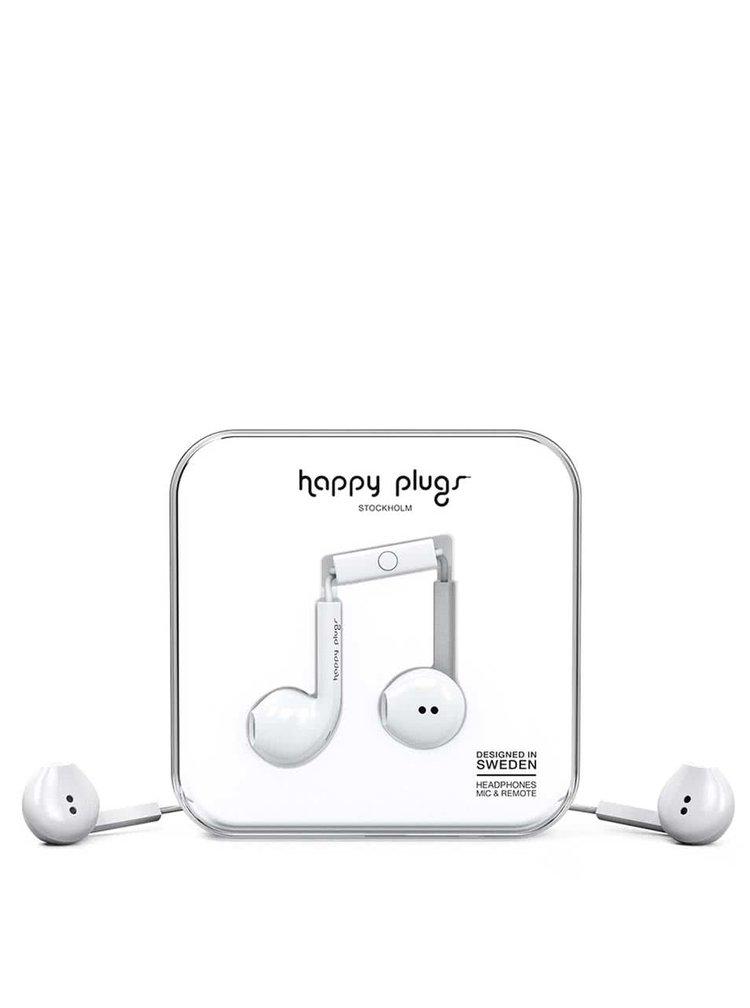 Bílá Earbud plus sluchátka Happy Plugs