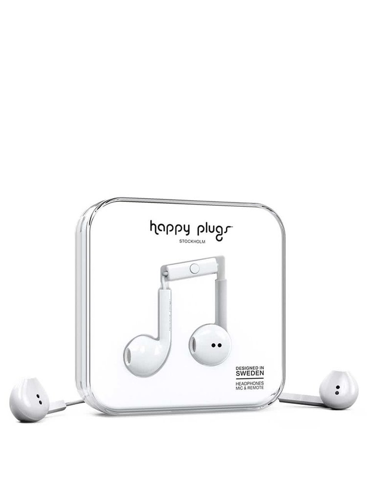 Casti albe Happy Plugs