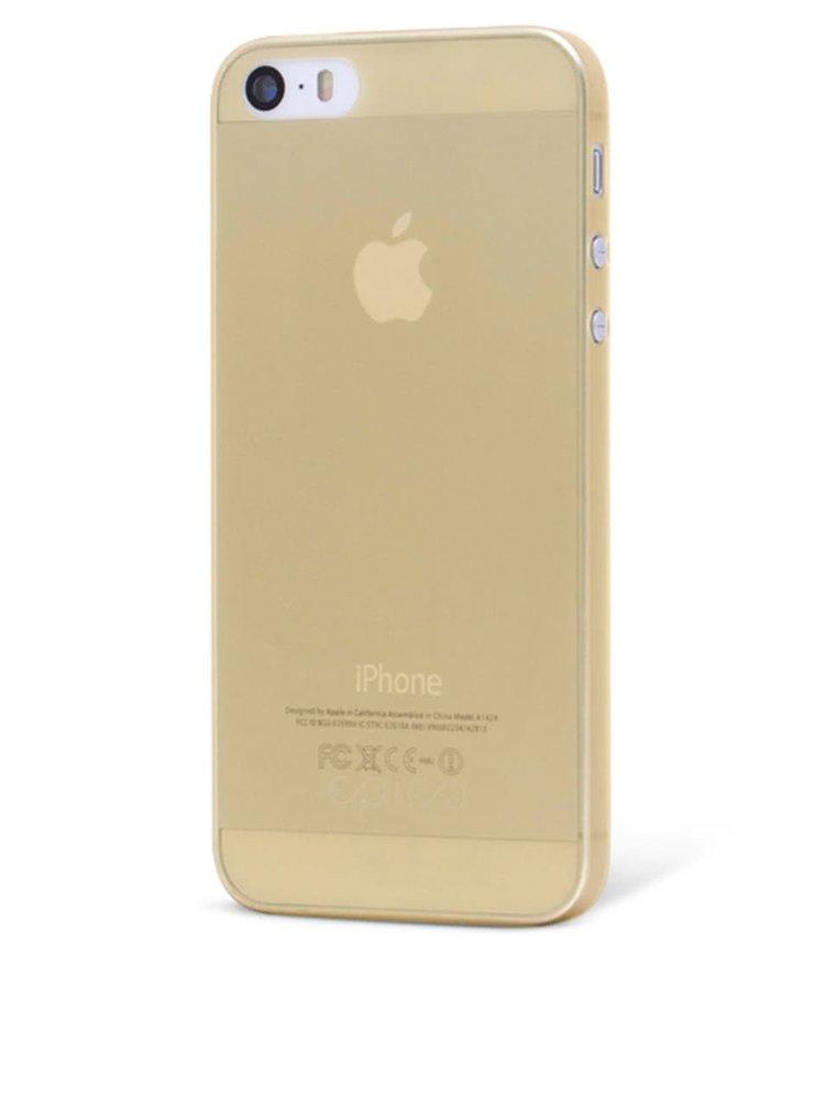 Žlutý ultra tenký plastový kryt pro iPhone 5/5S/SE EPICO TWIGGY MATT