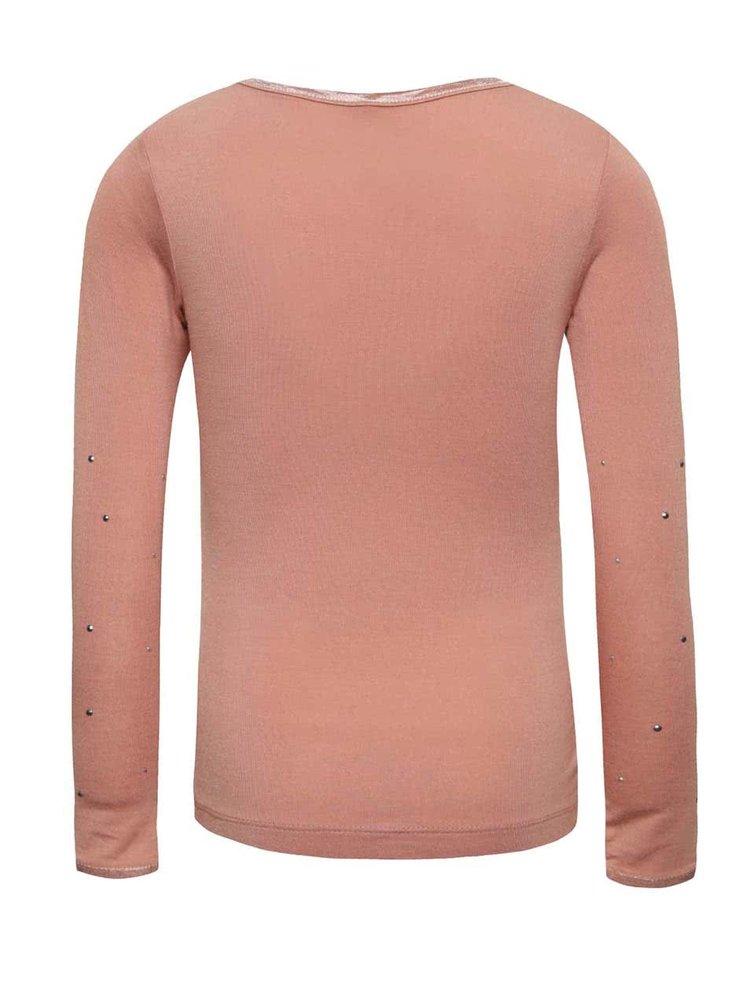 Ružové dievčenské tričko s dlhým rukávom name it Pelissimo