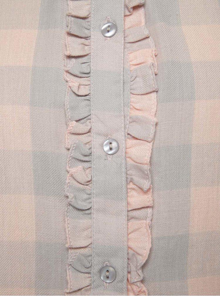 Cămașă roz cu gri în carouri 5.10.15. pentru fete