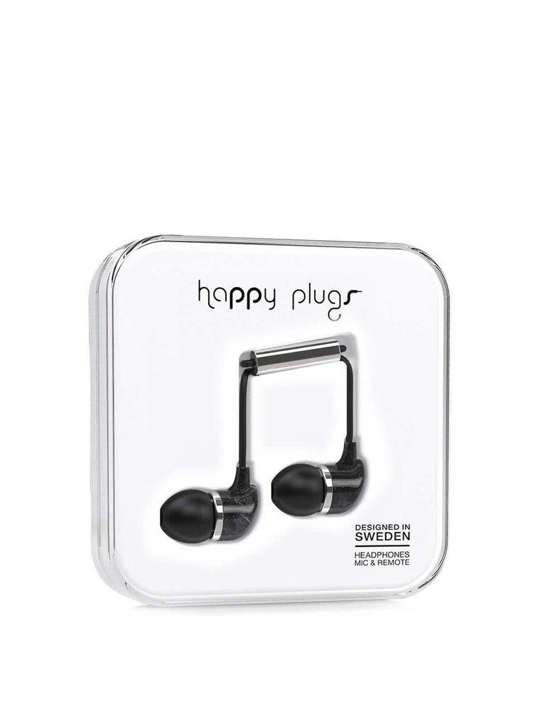 Černá in-ear saint sluchátka Happy Plugs