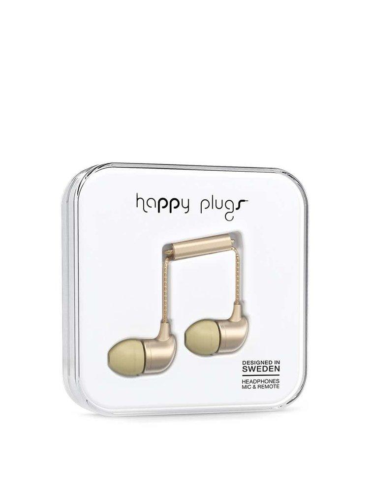 Căști in ear auriu mat Happy Plugs