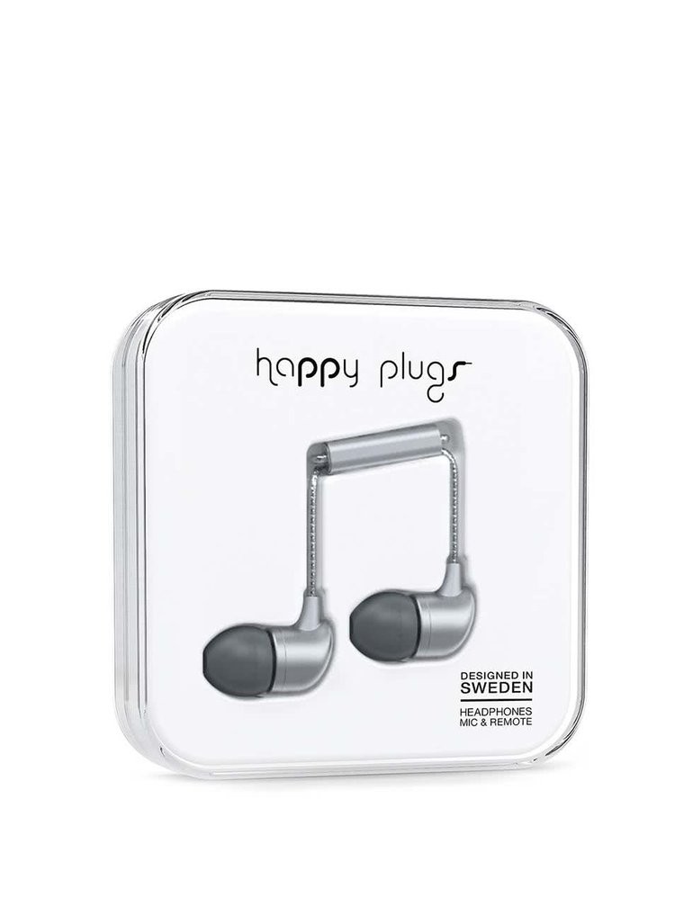 Casti in-ear gri Happy Plugs
