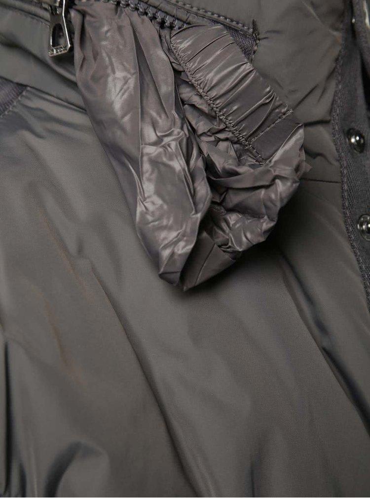 Sivá pánska funkčná bunda Geox