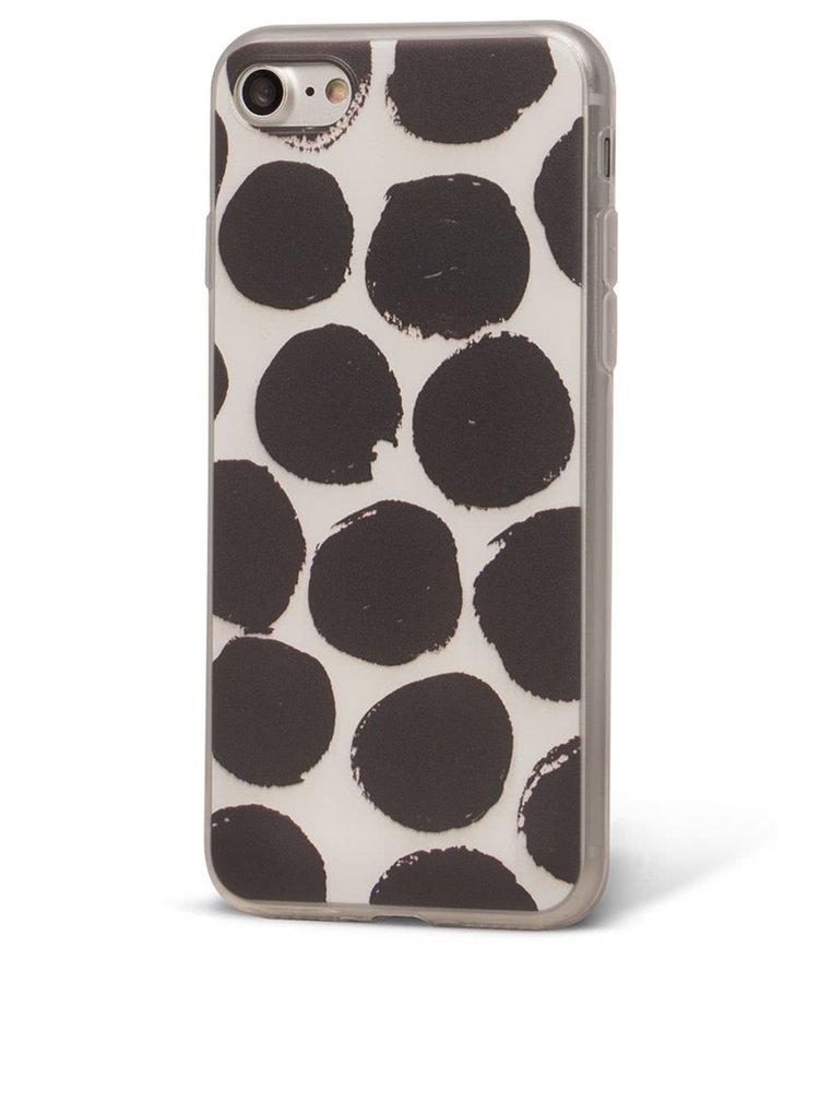 Černo-bílý ochranný kryt na iPhone 7 Epico Dotsie