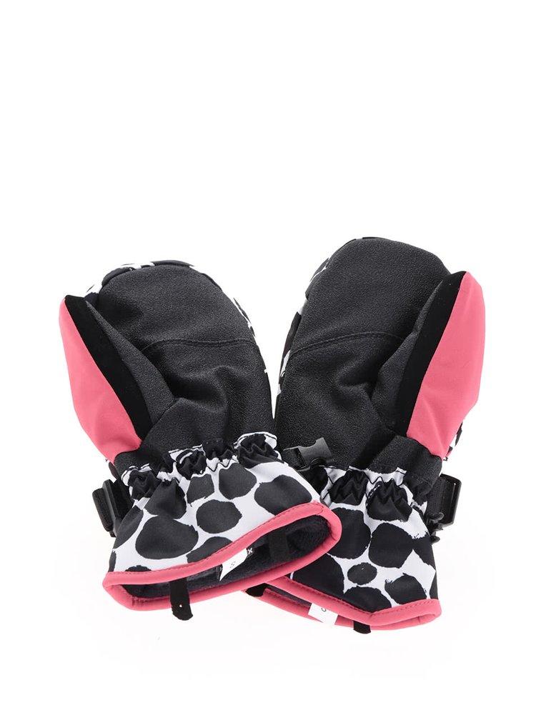 Mănuși roz & negru Roxy Jetty pentru fete