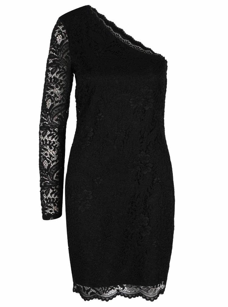 Rochie neagră din dantelă VERO MODA Celeb