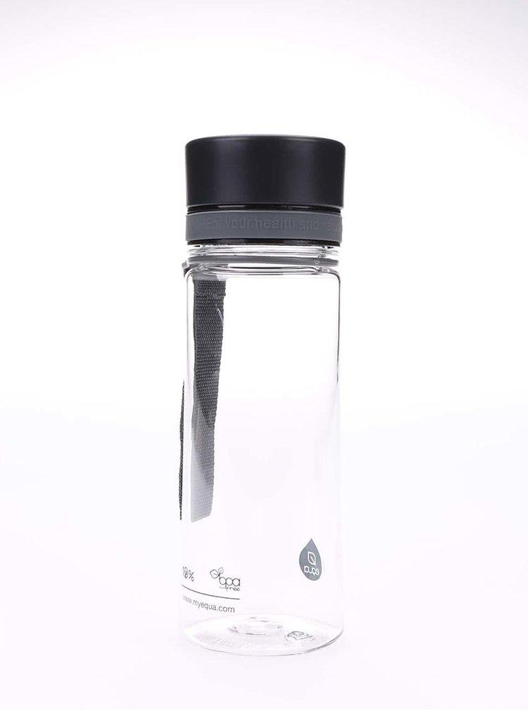 Plastová láhev s černým uzávěrem EQUA (400 ml)