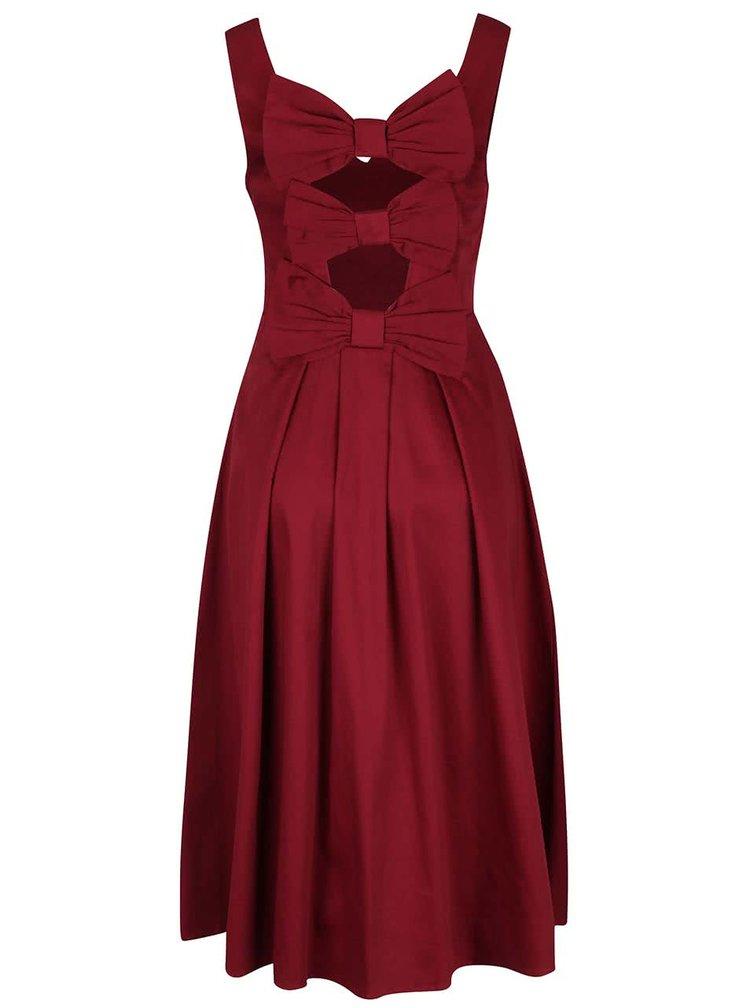 Vínové šaty s prestrihmi na chrbte Dolly & Dotty