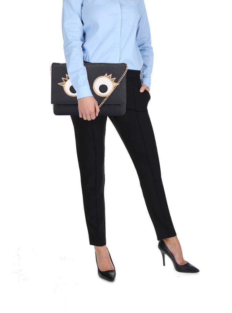Černá crossbody kabelka s detaily ve zlaté barvě Haily's Mika