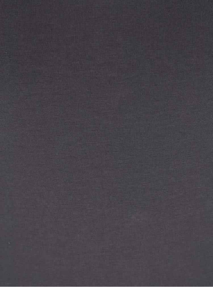 Tmavě šedé delší tílko VERO MODA Maxi