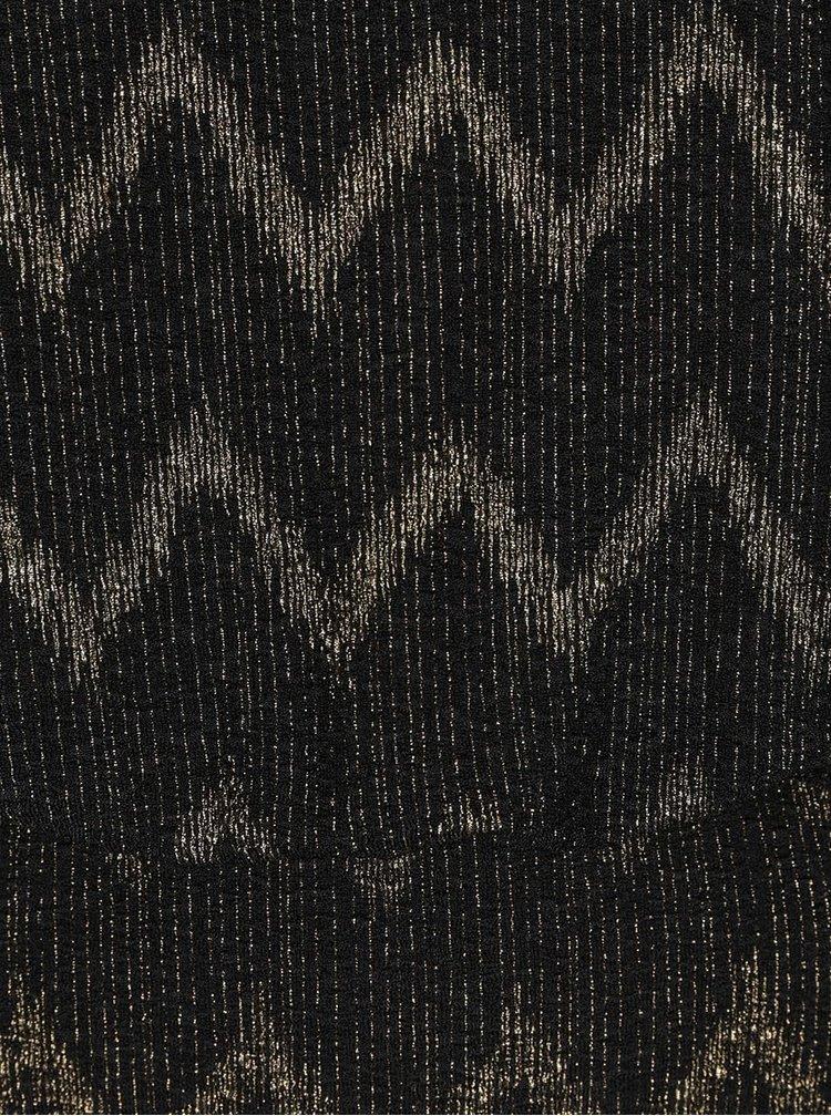 Rochie negru cu auriu ONLY Ziva cu model zigzag