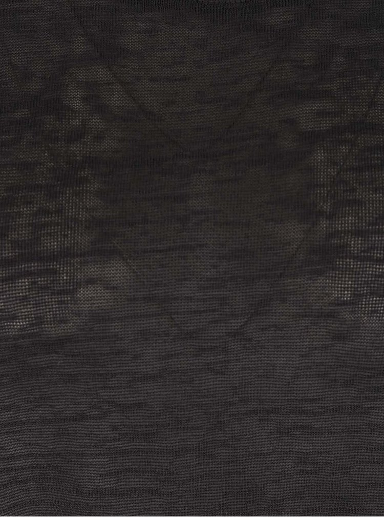 Tmavosivé voľnejšie tričko s 3/4 rukávmi VERO MODA Vita