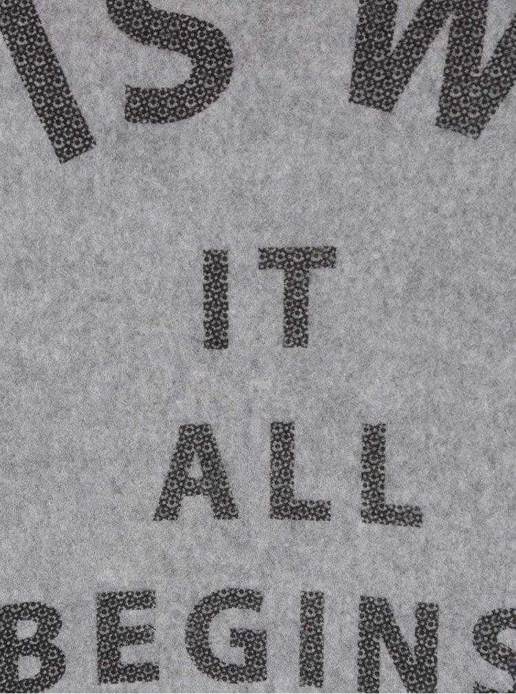 Bluza lunga gri Bench cu text