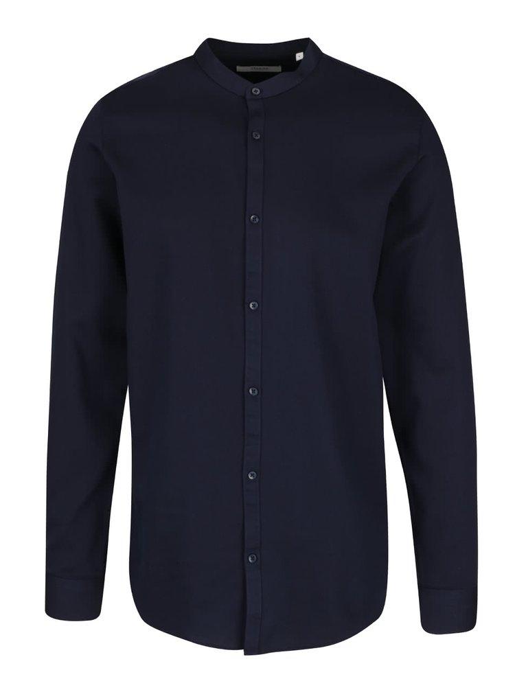 Tmavomodrá košeľa bez goliera Jack & Jones Toby