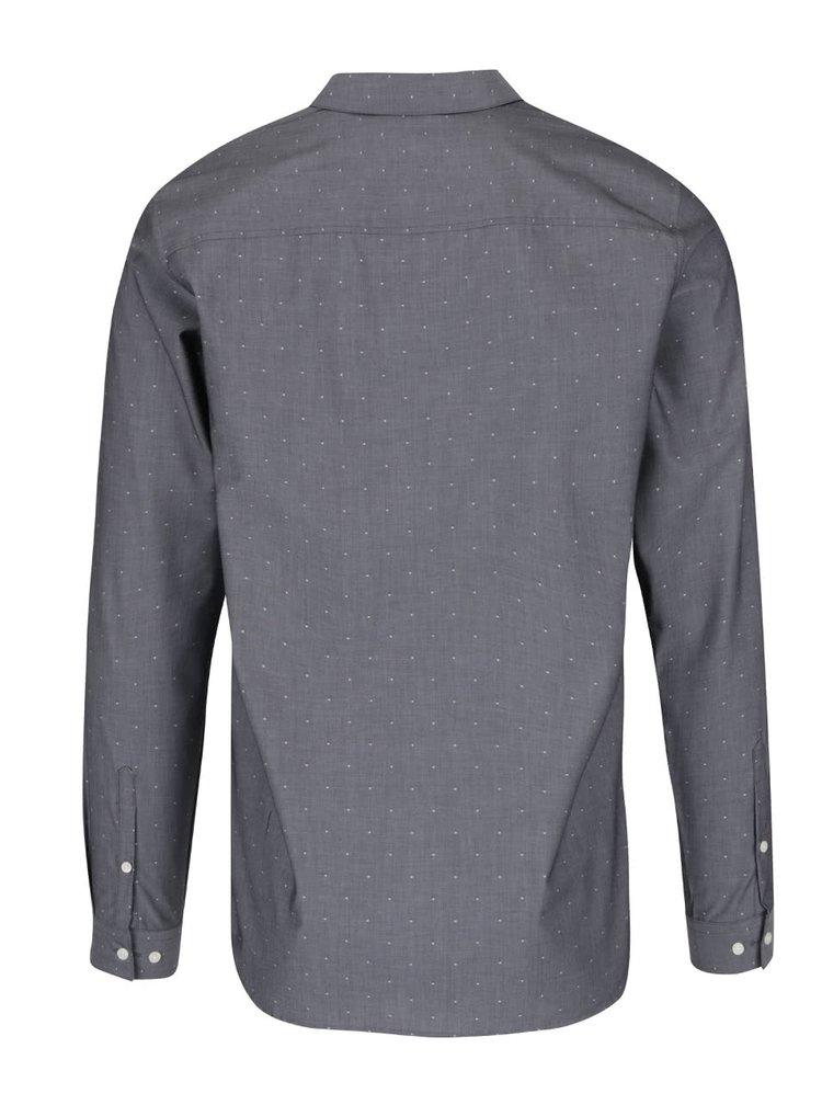 Tmavě šedá neformální košile se vzorem Jack & Jones Premium Jake