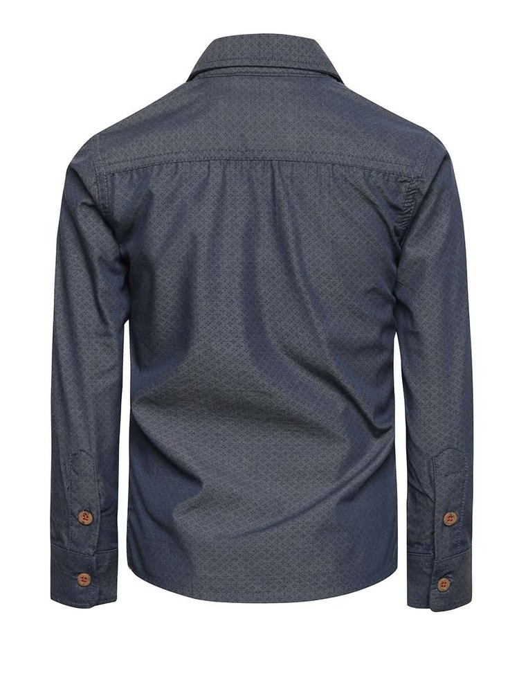 Tmavě modrá klučičí košile s jemným vzorem North Pole Kids