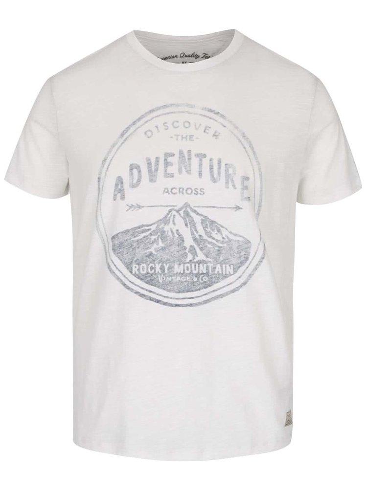 Krémové triko s potiskem Jack & Jones Abel