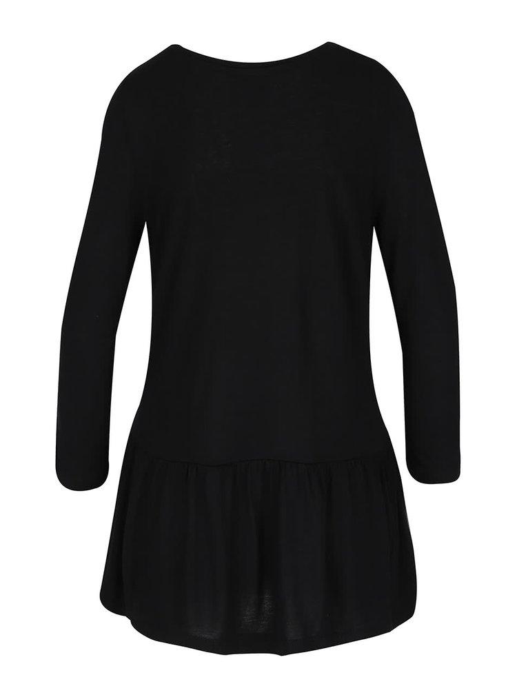 Bluză neagră cu decolteu rotund VERO MODA Nula