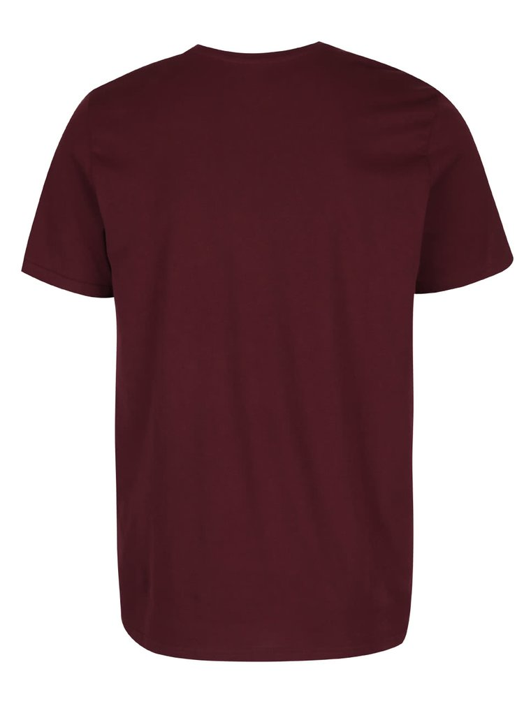 Vínové triko s potiskem Jack & Jones Richard