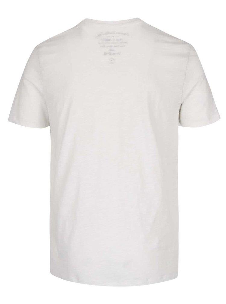 Krémové triko s potiskem Jack & Jones Sway