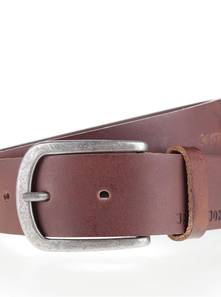 Hnědý kožený pásek Jack & Jones Ace