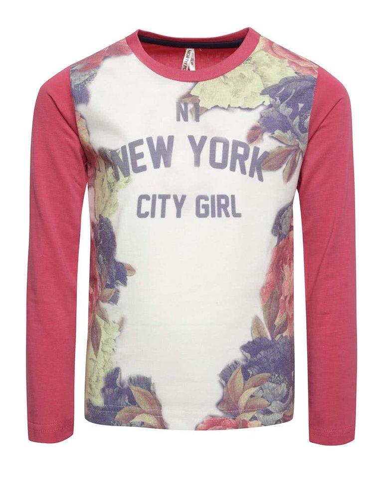 Krémovo-růžové holčičí tričko s potiskem North Pole Kids