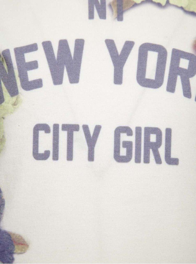 Bluză crem & albastru North Pole Kids pentru fete