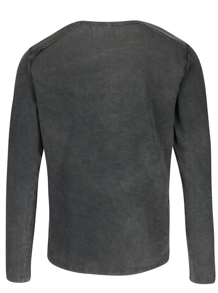 Bluză gri cu nasturi Blend