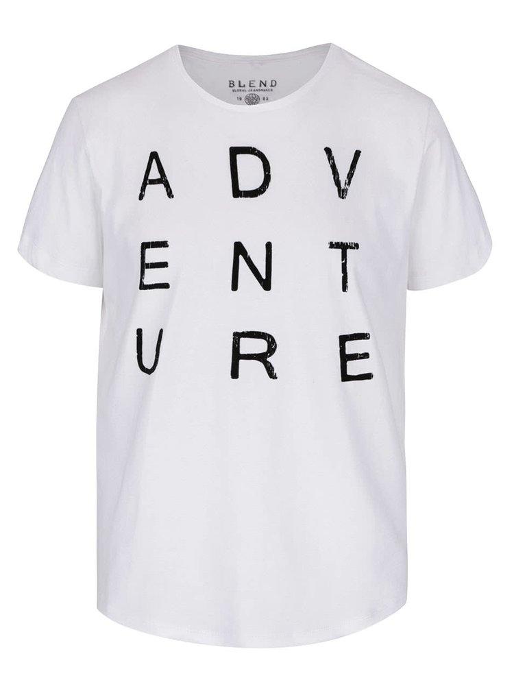 Bílé triko s krátkým rukávem Blend