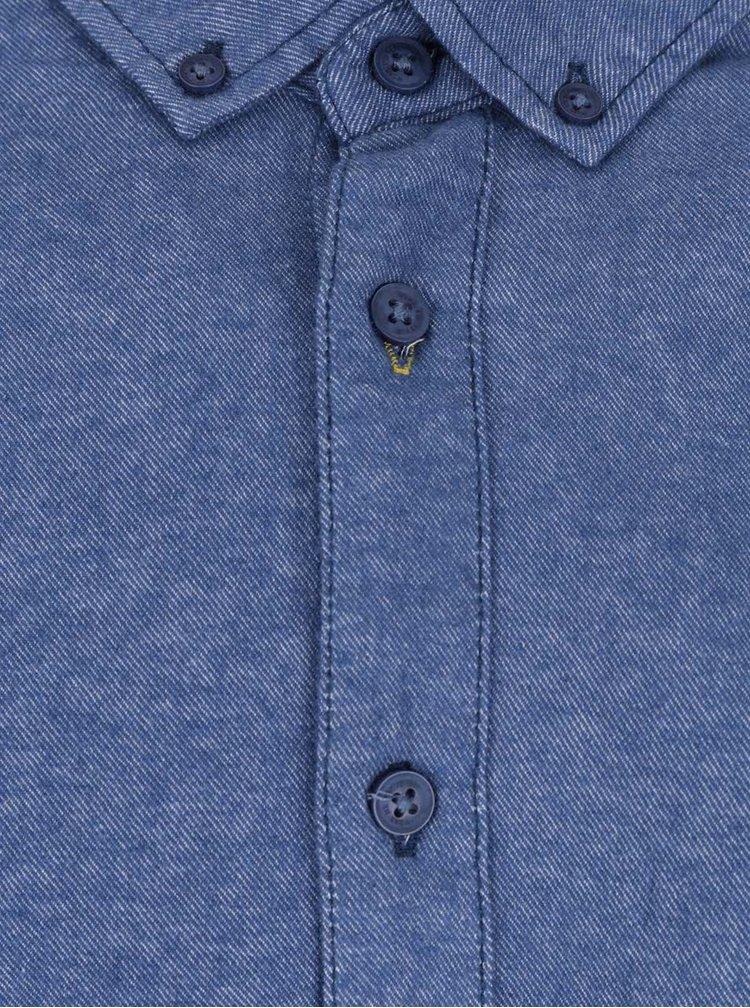 Camasa albastru melanj cu buzunar Blend